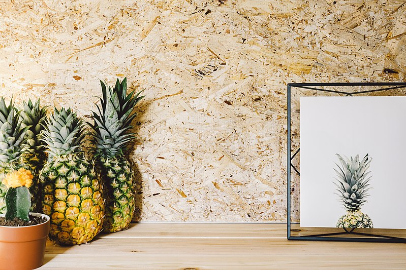 objet decoratif fruit tropical